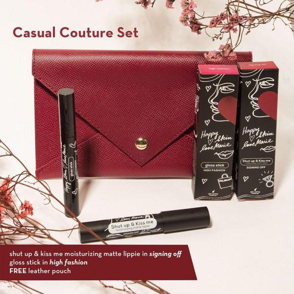 Happy Skin Love Marie Casual Couture Set  (Matte Lippie + Gloss Stick)