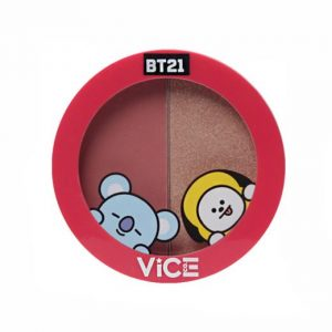 Vice Cosmetics BT21 Aura Blush and Glow Duo - Old Rose (Superstar)