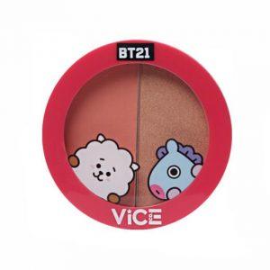 Vice Cosmetics BT21 Aura Blush and Glow Duo - Pretty Peach (Universtar)