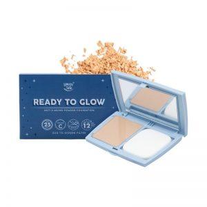 Happy Skin Ready To Glow Anti E-Aging Powder Foundation - Soft Beige