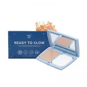 Happy Skin Ready To Glow Anti E-Aging Powder Foundation - Pink Beige