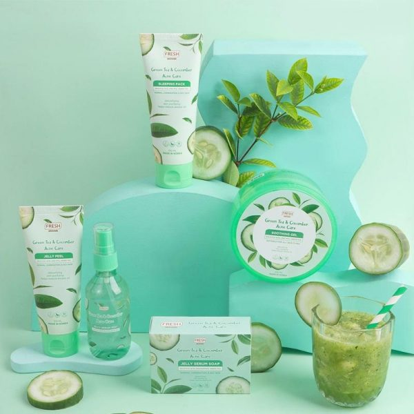 Fresh Philippines Green Tea and Cucumber Sleeping Pack