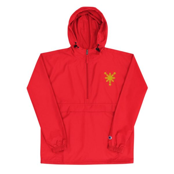Filipino Symbol Sun Star Embroidered Champion Packable Jacket Unisex / Men's - Funny Filipino Clothing - Pinoy Pinay - Phillippines - Pride