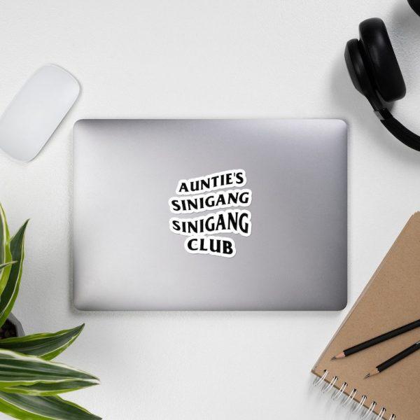 Auntie's Sinigang Sinigang Club Sticker Bubble Free - Funny Filipino, Pinoy, Pinay, Phillippines, Filipino American, Food, Streetwear Parody