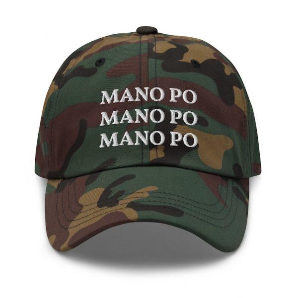 "Filipino Dad Hat ""MANO PO"" EMBROIDERED Filipino Gift - Funny Tagalog Gift - Pinoy Pinay - Phillippines - Filipino American - Filipino Pride"