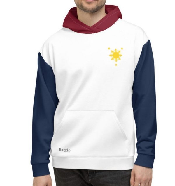 Filipino Flag Colored Premium Relaxed Hoodie Unisex/Men's - Filipino Clothing - Pinoy - Pinay - Phillippines - Filipino American - Pride
