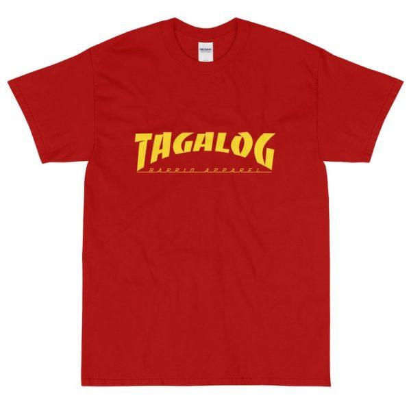 Filipino Shirt Tagalog Skateboarder Short Sleeve Box Unisex / Men's - Funny Filipino Clothing - Pinoy Pinay - Skateboard Parody