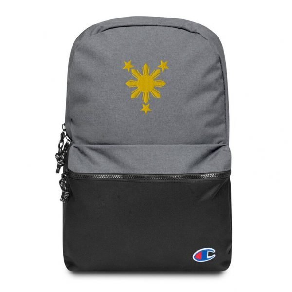 Filipino Sun and Stars Embroidered Champion Backpack - Filipino Gift  Funny Pinoy Pinay - Phillippines - Filipino Pride - Filipino Accessory