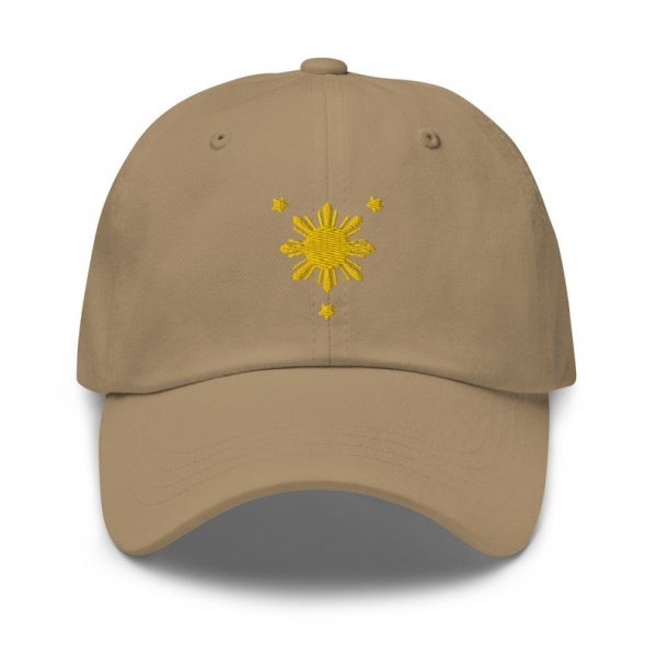 Filipino Sun Dad Hat GOLD EMBROIDERED for Filipino Funny Gift - Pinoy - Pinay - Phillippines - Filipino American - Filipino Pride Symbol