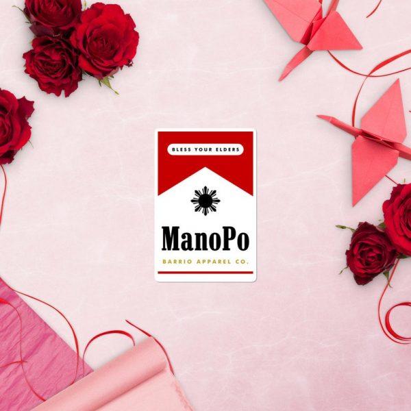 Mano Po Filipino Sticker Bubble-Free - Funny - Pinoy - Pinay - Phillippines - Filipino Clothing Accessory Gift - Valentine's Day