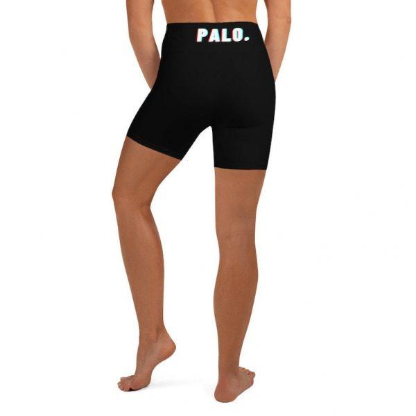 PALO. Women's Yoga Shorts - Biker Shorts - Glitch Design - Filipina - Funny Filipino - Pinoy - Pinay - Filipino American - Filipino Yoga