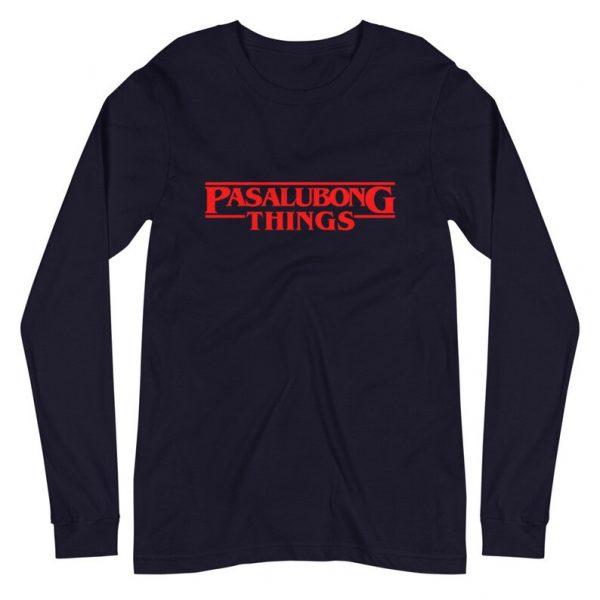 Pasalubong Stranger Things Premium Long Sleeve Unisex/Men's - Funny Filipino Clothing - Pinoy - Pinay - Phillippines - Halloween Parody