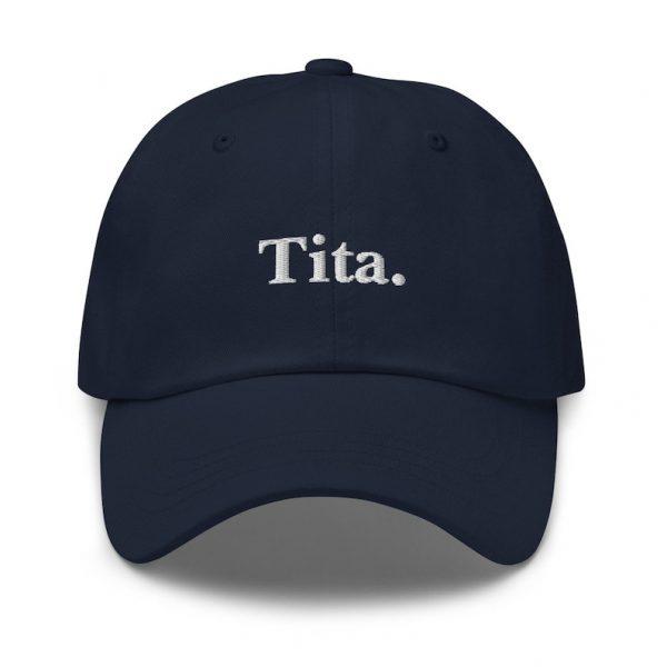 Tita Filipino Dad Hat BLACK/WHITE EMBROIDERED - Funny Filipino Gift - Pinoy - Pinay - Philippines - Filipino American - Gift for your Tita!