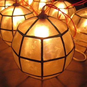 Capiz Shell Balls Lanterns