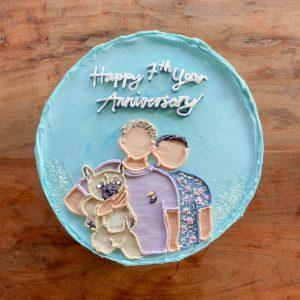 Custom Minimalist Birthday Cake Edmonton